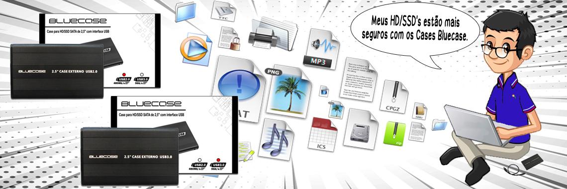 Case para HD/ SSD Bluecase